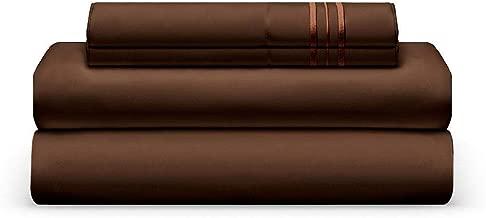 THE BEDSHEET CLUB Luxury Sheet Set, Split King, Chocolate, Ultra-Soft, Breathable, Cool & Wrinkle Free