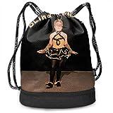 SudaLLYSC Drawstring Gym Bag Blind Melon Unisex Lightweight Simple PE Kit Bag For School Sport