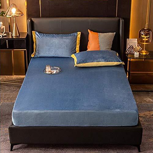 LYXQQ - Ropa de cama de terciopelo para mantener los parches de Quilt4 de franela cálidos, cómoda y transpirable, grosor invernal, grosor de invierno 180 x 200 cm, color azul claro