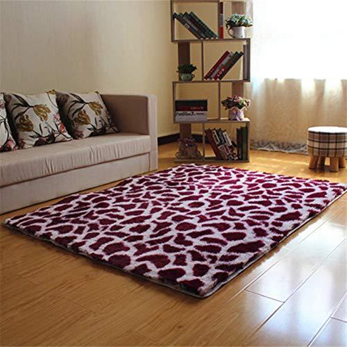 FORNCALO tapijten tapijten pluizige zachte tapijt tapijten nachtkastje gebied tapijten Shaggy lang haar tapijten luipaard bedrukte deurmat keuken hal bad mat 40 * 60Cm