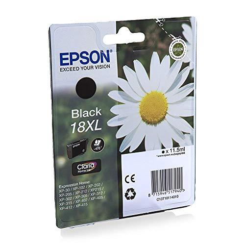 Epson C13T18114012 18XL Cartouche d'encre d'origine Claria Home Noir Amazon Dash Replenishment est prêt