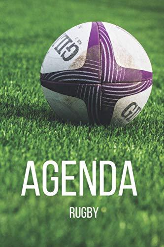 Agenda Rugby: Planifiez vos journées avec un agenda de rugby | planificateur de 113 pages - Heure & Horaire - Check-list - Note