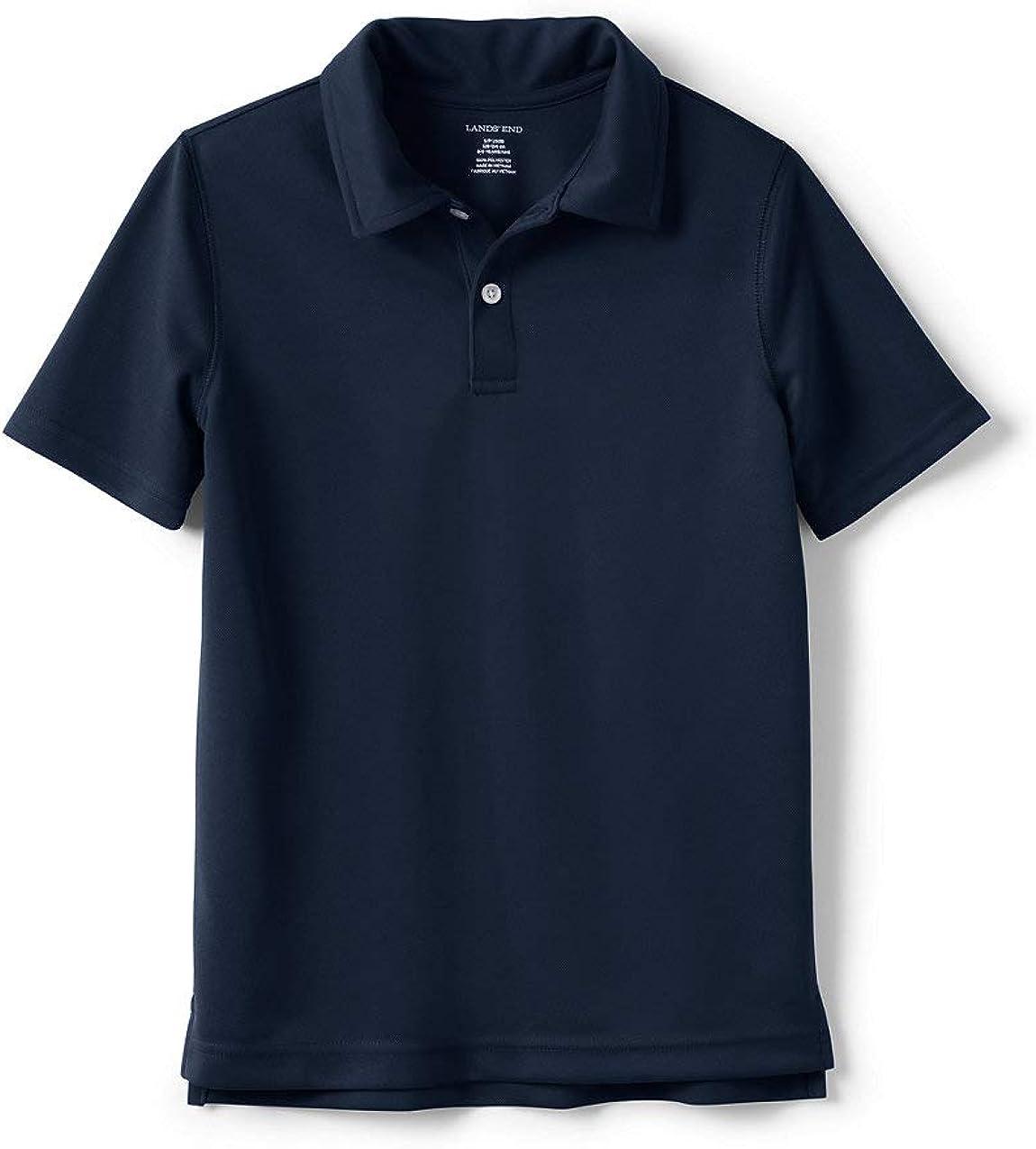 Lands' End Boys Short Sleeve Poly Pique Polo Shirt