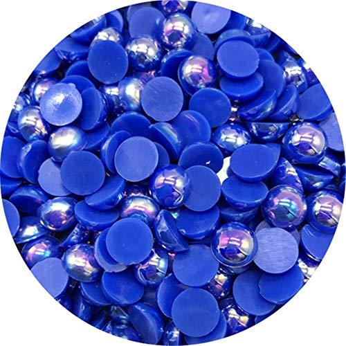 Cuentas de perlas semicirculares de 4/6/8/10 mm con cuentas de libro de recuerdos de espalda plana para hacer joyas DIY Perlas de perlas, 07,8 mm 100 piezas
