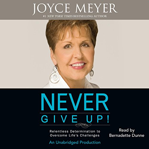 Never Give Up! audiobook cover art