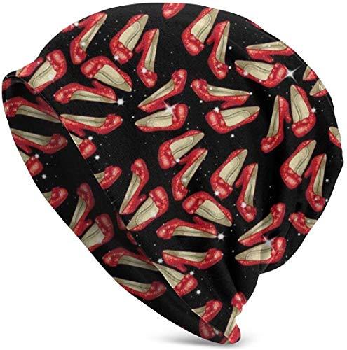 Ruby Slippers Valentine Lustiges Upgrade Hip-Hop Adult Pullover, Adult Knit Beanie Warm gestrickte Ski Skull Cap Beanie Cap One Size für Männer Frauen Hüte, Weihnachtsmütze