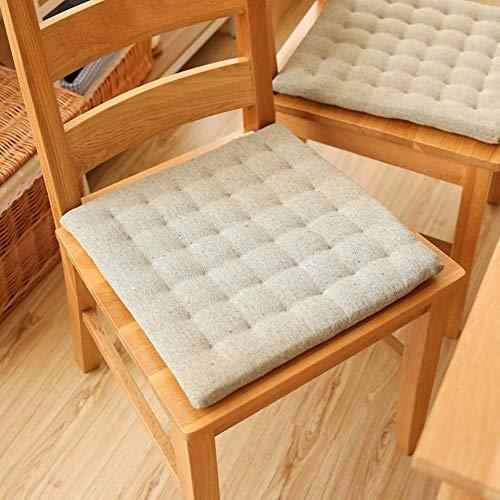 YLCJ Sitzkissen in Tatami, schwimmendes Fenster Boden Kissen Koreanisches Tuch Stuhlkissen für Esszimmerstühle Esstisch Stuhl Polster A 40 x 40 cm