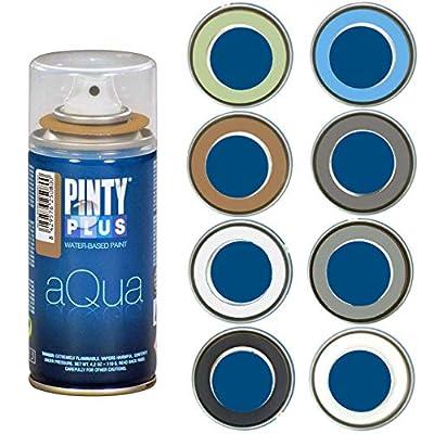 Spray Paint for Arts & Crafts, Water Based Pintyplus Aqua Mini - 150 mL cans - 8 Piece Artist Set