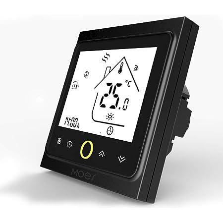 MOES Termostato inteligente WiFi Controlador de temperatura Smart Life APP Control remoto para calefacción eléctrica Funciona con Alexa 16A