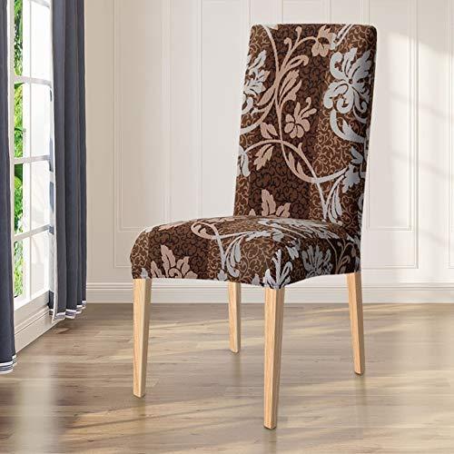 HUACHENG Spandex Elastic Printing Esszimmerstuhl Schonbezug Modern Abnehmbarer Anti-Dirty Kitchen Seat Case Stretch Stuhlbezug für Bankett-03, Universalgröße