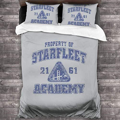 N \ A Star Trek Bettbezug-Set, 3-teiliges Bettwäsche-Set, 218,4 x 177,8 cm, mit 1 Steppdecke und 2 Kissenbezügen, weich und bequem.