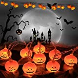 YSZJH Halloween String Lights, Halloween Decoration Lights LED Pumpkin Lights, 2 Modes Steady/Flickering Halloween Lights for Indoor and Outdoor Decoration Halloween Party (1)