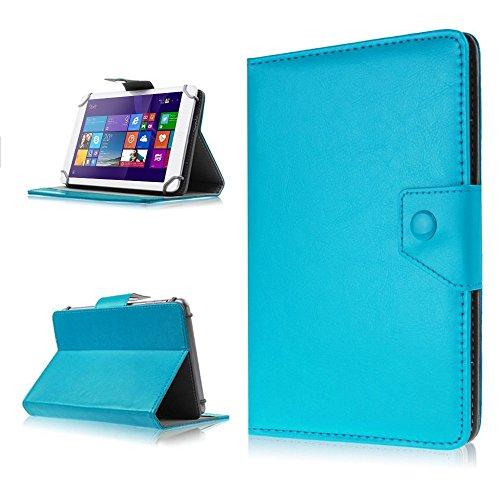 NAUC Tasche Schutz Hülle für Dell Venue 10 Pro Tablet Schutzhülle Hülle Cover Farbwahl, Farben:Türkis