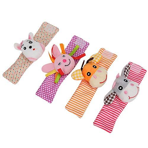 【𝐂𝐡𝐫𝐢𝐬𝐭𝐦𝐚𝐬 𝐆𝐢𝐟𝐭】material de pino de alta calidad ejercicio flexibilidad de los dedos Sonajeros de muñeca para bebés, muñequeras de sonajero, Festival Gif niños para el hogar Regalo de(011
