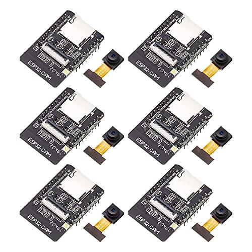 Varadyle 6 Piezas ESP32 CAM Placa de Desarrollo 2.4GHz WiFi + MóDulo BT/BLE con MóDulo de CáMara OV2640