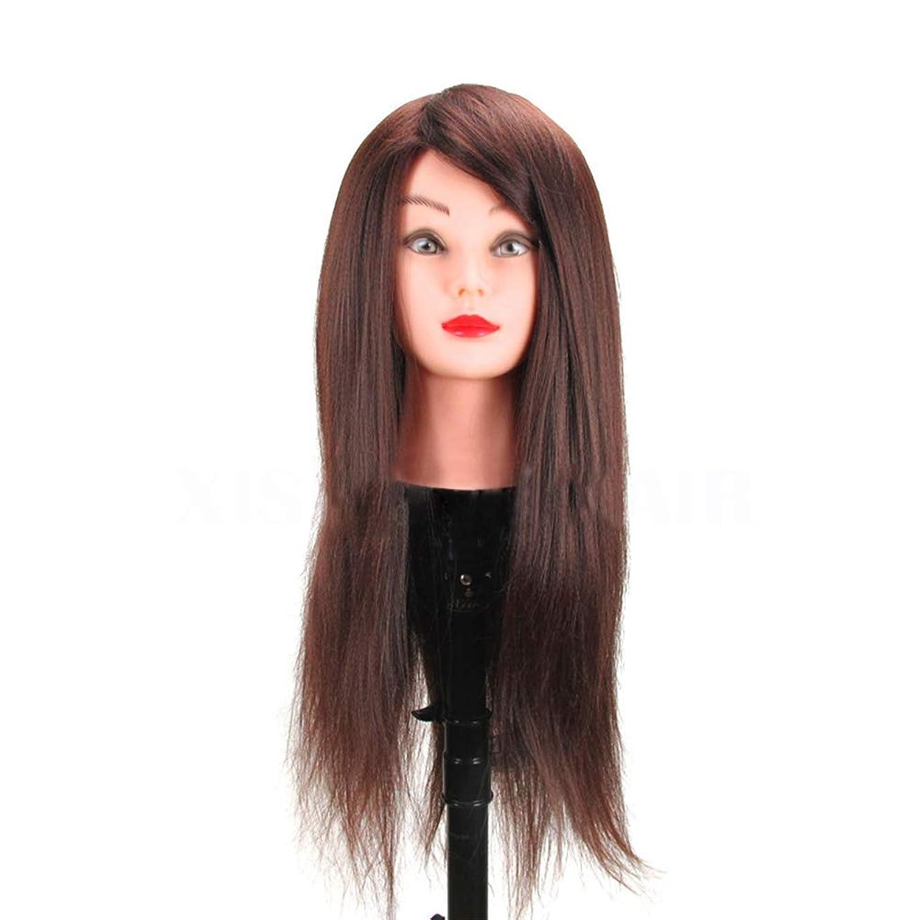 グリーンランド増強する他の場所高温シルク編組ヘアスタイリングヘッドモデル理髪店理髪ダミーヘッド化粧練習マネキンヘッド