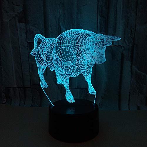 WULDOP Luz Nocturna De Led Vaca robusta animal Lámpara Nocturna Luz De Noche Luz Quitamiedos Infantil Led Para Habitación Infantil Dormitorio Baño Cuna Pasillo