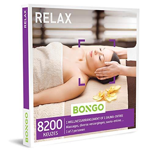 Bongo Bon - Relax | Cadeaubonnen Cadeaukaart cadeau voor man of vrouw | 8200 verwenmomenten: massage, sauna, verzorging en meer