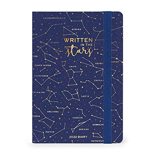 Legami - Agenda semanal de 12 meses 2022, tamaño mediano con Notebook, Stars