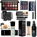 It is suitable for all type of skin tone. Smudge proof and convenient twist up format for deep stroke Package Contents: 1 Foundation Brush, 1 Lip Brush, 1 Powder Brush, 1 Blush Brush, 1 Medium Eyeshadow Brush, 1 Angled Eyeshadow Brush, 1 Small Eyesha...