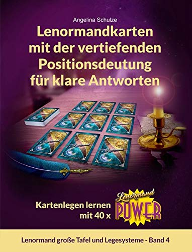 Lenormandkarten mit der vertiefenden Positionsdeutung für klare Antworten: Kartenlegen lernen mit 40 x Lenormand Power