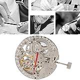 Movimiento de reloj de metal, movimiento de reloj de repuesto firme, diseño hueco de plástico fino para talleres de reparación de relojes que reparan profesionales del hogar