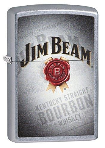 Zippo Jim Beam Signature Winddichtes Taschenfeuerzeug, Street Chrom, Einheitsgröße