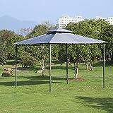 WSN Patio al Aire Libre Gazebo, Acero del pabellón Pabellón de la Tienda 2-Tier azotea jardín Sombrilla