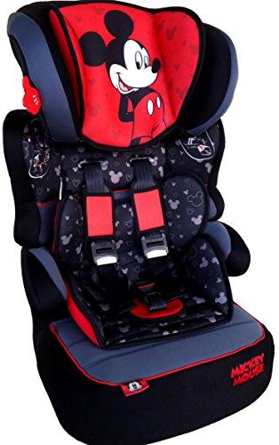 Disney Mickey Mouse Beline Luxe Seggiolino Auto Seggiolino Bambino, gruppo 1/2/39–36kg