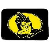 NA Piso de la Cocina Baño Entrada Alfombrillas Alfombra niño Niña Oración Cristiano Orando Alabado Sea Dios Adoración Gráfico de Dibujos Animados niño Niña Ferviente 50x80CM