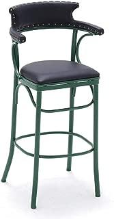 NMDB Tabouret Bar Haut Chaise Bar Fer forge retro Chaise Chaise Haute Hauteur siege Maison Hauteur Chaise creative  Couleur Green