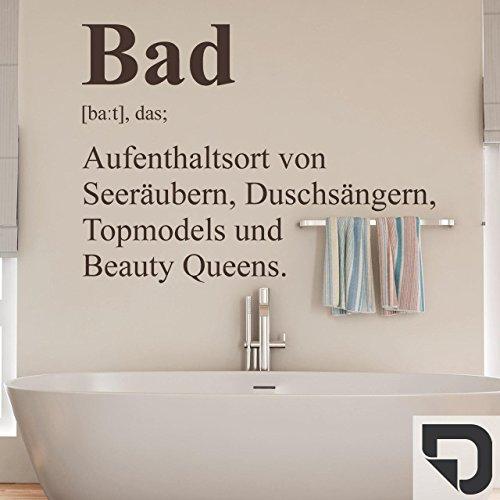 DESIGNSCAPE® Wandtattoo Bad Definition 2 - Badezimmer Wandtattoo Beauty Queen Seeräuber Topmodel 73 x 53 cm (Breite x Höhe) dunkelgrau DW803239-M-F7