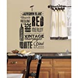 RoomMates 54143 Autocollant Mural Motif Amateurs de Vin Papier Multicolore 48 x 8 x 8 cm