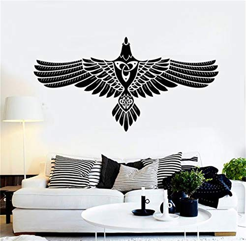 Jaklot-decals Vinly Art Decal Words Quotes Cartoon Wall Decal Stickers Abstract Celtic Crow Raven