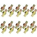 Fijaciones De Esquina Soporte De Riel De Cama De Metal Bisagras Para Cama De Alta Resistencia Bisagra Del Sofá Conector De Fijación De Muebles Mecanizado Cnc Cromado En Amarillo Muy Robusto (10pcs)