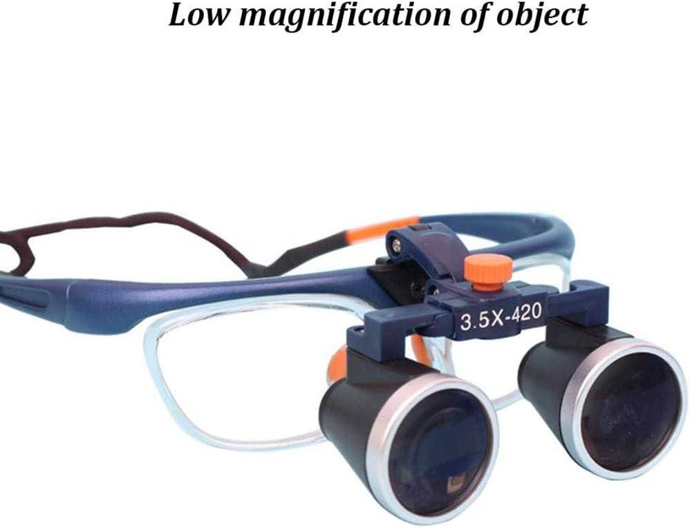 Medica A Due Vie Regolazione Occhiali Binocolo Ingrandimento Distanza di Lavoro 420 Mm,2.5X CCCYT Professionale Dentista Dentale Chirurgico Binoculari