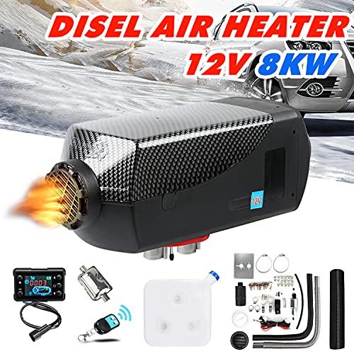 Triclicks 8KW Calentador De Aire Diesel 12V Calentador De Estacionamiento Diesel Con Pantalla LCD Calentador DiéSel De Calentamiento RáPido Para Carro SUV CamióN Yates RV (Color B)