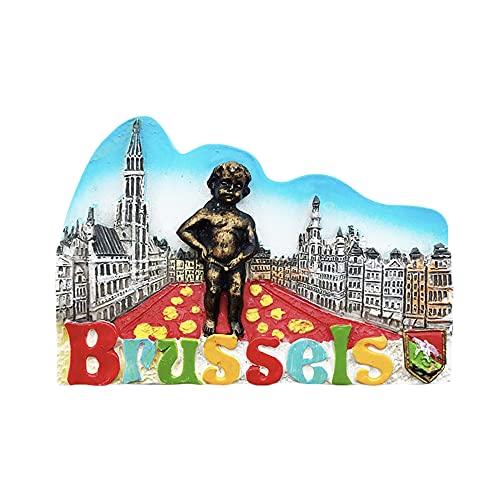 Bruselas Bélgica 3D Imán para nevera regalo de recuerdo, hecho a mano para decoración del hogar y la cocina Bruselas colección de imanes