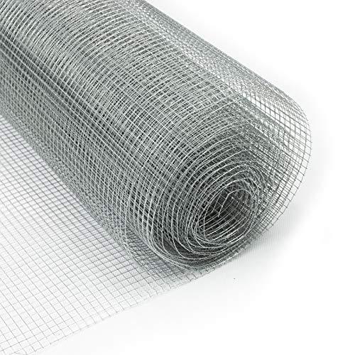 casa pura Rete Zincata Elettrosaldata - Rete Metallica Maglia Piccola (6.3 mm) Anti Ruggine | Tagliabile su Misura - 100 cm x 5 m