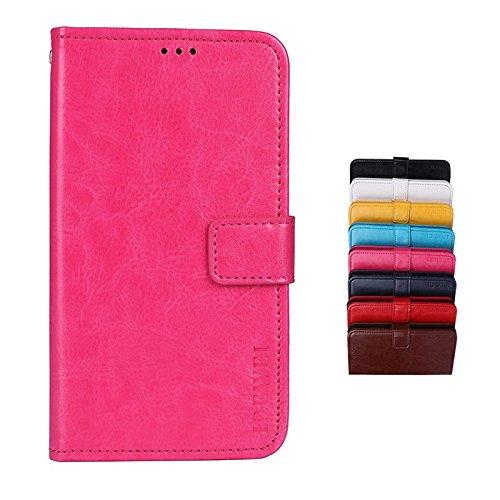 SHIEID Meizu M6T Cover Custodia Custodia Morbida Custodia Smartphone per Meizu M6T con la Funzione di Supporto (Rosa Rossa)