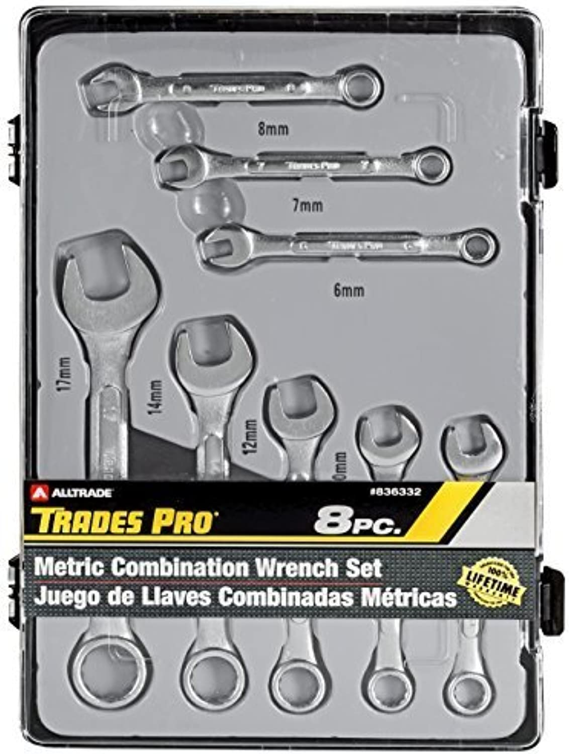 Tradespro 836332 Metric Combination Wrench Wrench Wrench Set, 8-Piece by Tradespro B0186ME0YU | Genial