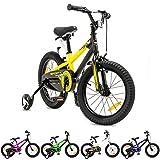 NB Parts - Bicicleta infantil para niños y niñas, BMX, a partir de 3 años, 12 pulgadas / 16 pulgadas, color amarillo opaco, tamaño 16