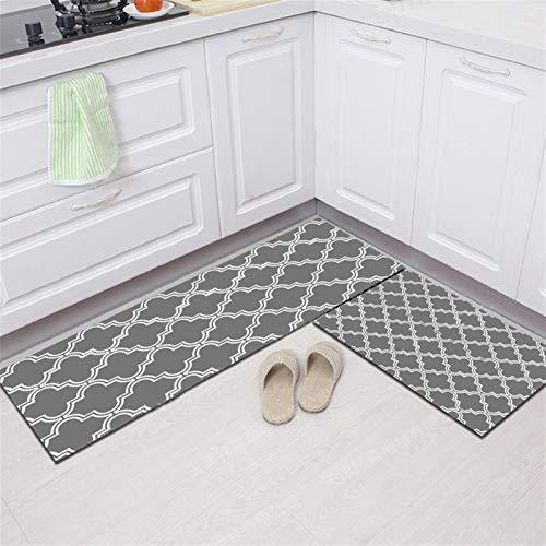 Icegrey Küchenmatte Wasserabweisende Anti-Müdigkeit Fußmatte Küchenläufer Komfort Schwere Stehmatten Teppich rutschfeste Ölbeweismatte für Bad, Küche und Flur, 03, 40x160cm