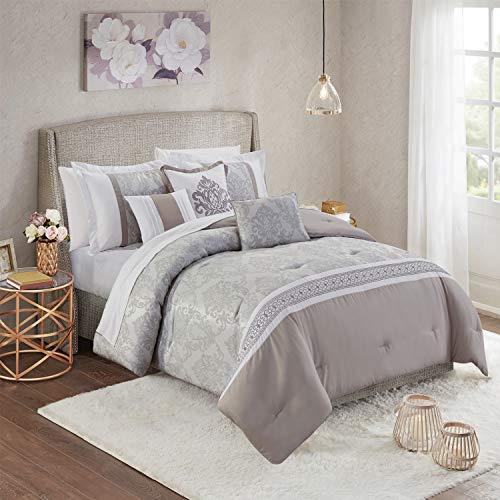 Yorkshire Bedding Gesteppte Grau Tagesdecke Bett Decken Bettwäsche Jacquard Stoff Claudia 220x240 cm Bettüberwurf Mit Passender Kissenbezüge