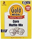 Trusted Brand Name Gold Medal Corn Muffin Mix Each box produces 36 / 3.3-ounce muffins To prepare, pour liquid into bowl, add product, mix, scoop into greased muffins tins, and then bake in a convection oven at 375 F for 15 to 17 minutes The mix requ...