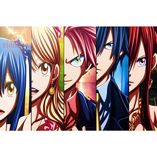 Puzzle 1000 pezzi Nuovo anime Fairy Tail puzzle 1000 pezzi animali Gioco di abilità per tutta la famiglia, colorato gioco di posizionamento50x75cm(20x30inch)