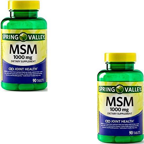 Spring Valley - MSM 1000 mg, 90 Capsules (2 Pack)