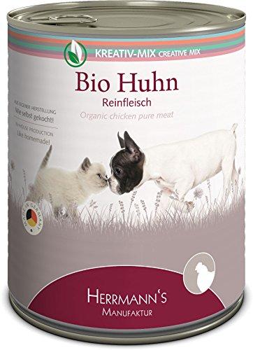 Herrmanns Bio kip 100%, verpakking van 6 (6 x 800 g)