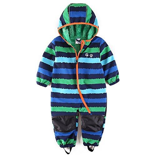 umkaumka Jungen Schneeoverall Softshell Overall Softshellanzug wasserabweisend Winddichtes Fleece Gr.86
