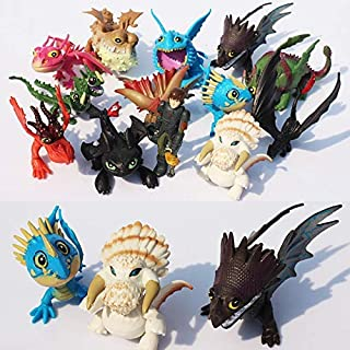 hkp Set 13 HTTYD Toys 2 - 2.75 inch Hot Toy Toothless Skrill Gronckle Fury Action Figures The Hidden World Hicup Figure Christmas Halloween Collectable Gift Collectible Gifts Collectibles for Kids